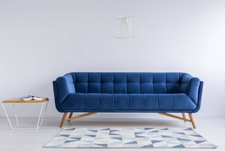 comfortable-blue-couch