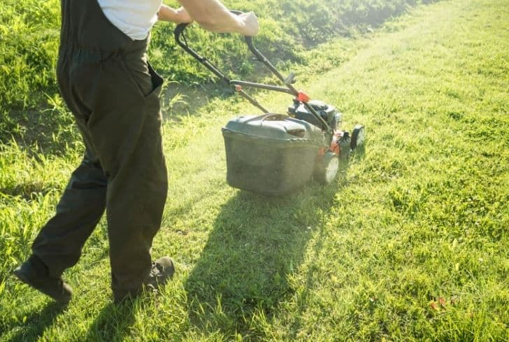 lawn-mower-cutting-green-grass