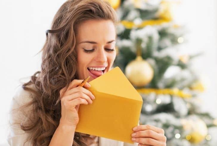 women-licking-envelope